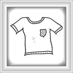 Simple doodle of a t-shirt