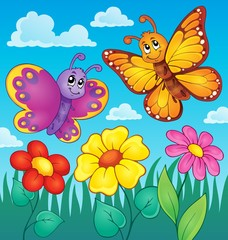 Happy butterflies theme image 7
