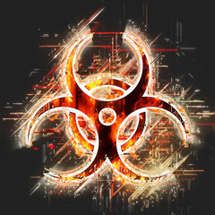 Abstract  biohazard sign