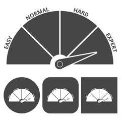 Scale icon expert - vector icons set