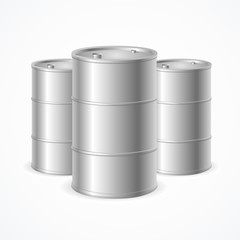 Oil Barrel Drums. Vector