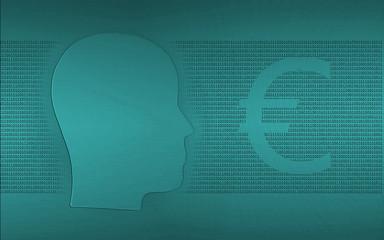 Abstracte achtergrond over internet, mensen en economie
