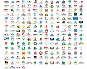 Set of 214 web house icons