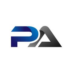 Obraz Modern Simple Initial Logo Vector Blue Grey Letters pa - fototapety do salonu