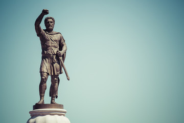 Statue of Filip II, father of Alexander the Great monument. Skop Fototapete