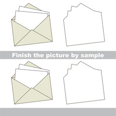 Envelope. Drawing worksheet.
