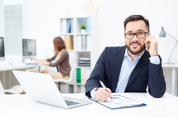Busy office worker