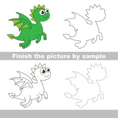 Green Dragon. Drawing worksheet.