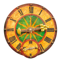 Genuine medieval clock face