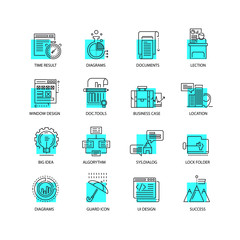 Modern thin line icons set for business, infographic and different projects