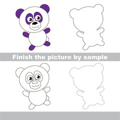 Panda. Drawing worksheet.