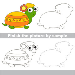 Turtle. Drawing worksheet.