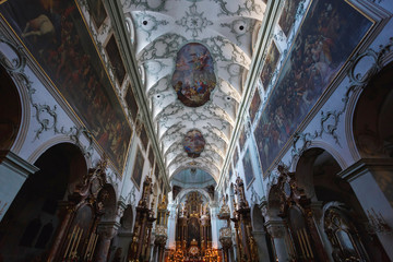 Interior of Salzburg Cathedral Church