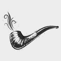old pipe with swirl smoke