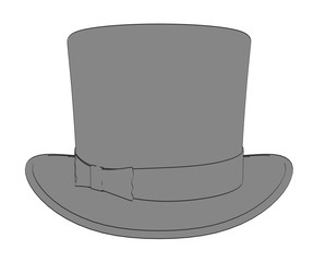 2d cartoon illustration of hat