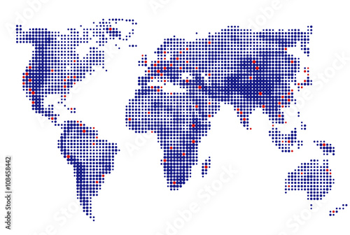 Abstract dotted world map vector blue round dots dot world maps abstract dotted world map vector blue round dots dot world maps business background gumiabroncs Image collections