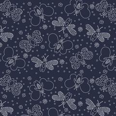 Seamless cute pattern butterflies