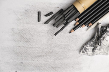 Charcoal art and equipments