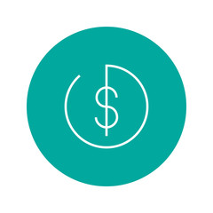 Dollar icon with button payment vector symbol for interface of e-commerce, banking operations, transactions.