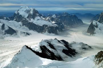 Gletscher im Denali-Massiv, Alaska