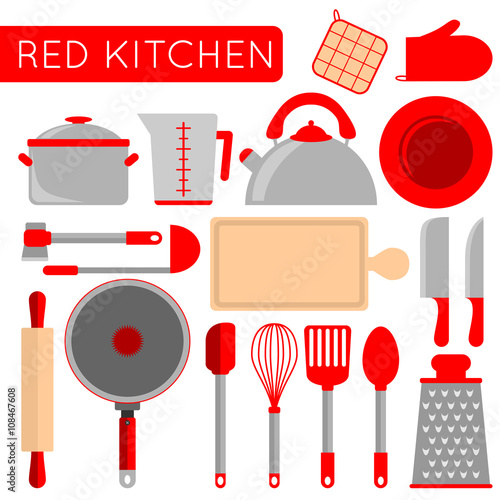 Kitchen objects instruments for cooking chef for Instrumentos de cocina profesional