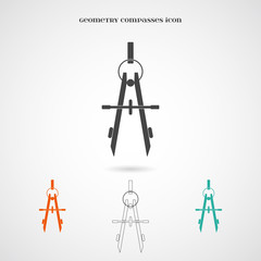 Vector Geometry Compasses Icon