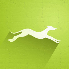 elegant dog symbol