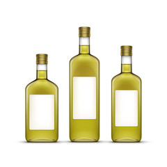 Vector Set of Alcohol Alcoholic Beverages Drinks Whiskey Glass Bottles