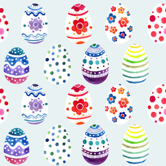 seamless ornament from painted eggs