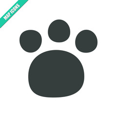 Vector paw icon