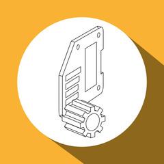 Icon of isometric technology design, vector illustration
