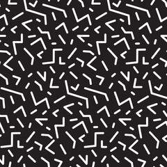 Seamless abstract geometric pattern in retro memphis style, fashion 80-90s. It can be used in printing, website backdrop and fabric design.