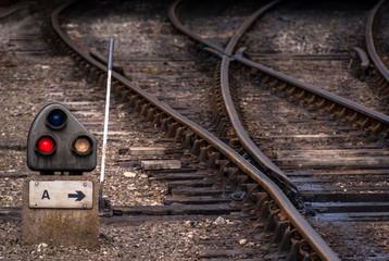 Railway junction point