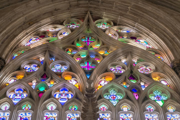 The stained glass window of the Batalha monastery, Portugal