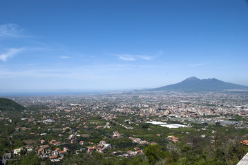 Landscape Vesuvius and town