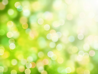 fresh bokeh background in shades of green, white and yellow