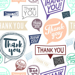 Thank you speech. Seamless pattern