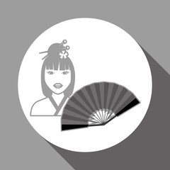 chinese culture design over white background, vector illustration