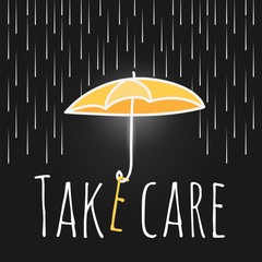 care support open umbrella rain