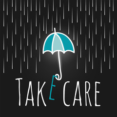 care support open umbrella rain