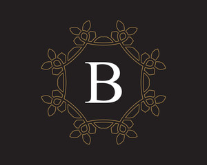 monogram vintage letter B logo