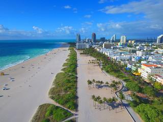 Aerial drone photo Miami Beach FL