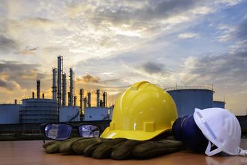 Concept : work outdoor wear safety equipment