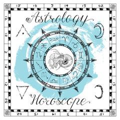 Astrology set for zodiac sign Cancer or Crab