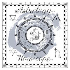 Astrology set for zodiac sign Capricorn or Goat