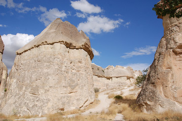 Probably the best known feature of Cappadocia, Turkey found in its very heart, are the fairy chimneys of Goreme and its surrounding villages