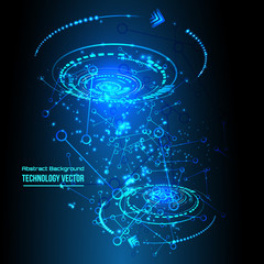Abstract techno background for futuristic high tech design - vector