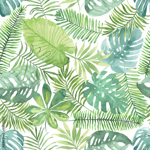 Tropical Jungle On White Art Print Download Lengkap