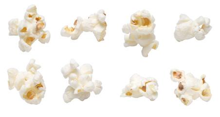 Popcorn set isolated on white background