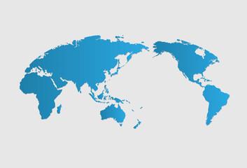 World map of vector, vector illustration